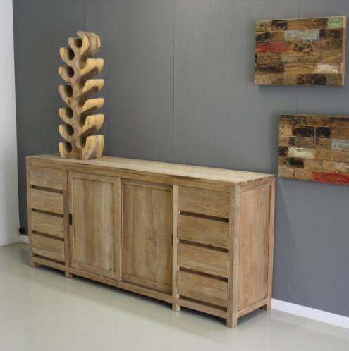 Modern teak houten dressoir 2 meter breed indoteak for Marktplaats meubels