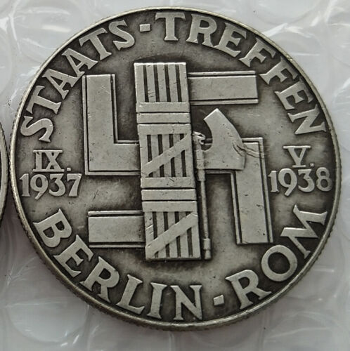 Free Coins! 1938 Mussolini And Hitler / Germany Exonumia Coin #31