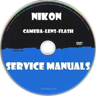 Nikon Camera Lens Flash Service Manuals- Latest PDFs on DVD- SRManuals