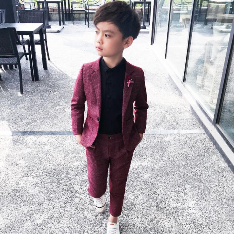 Details about Kids Boys Check Suit Page Boy Prom Suits Wedding Formal Suits  Outfits 7-7 y