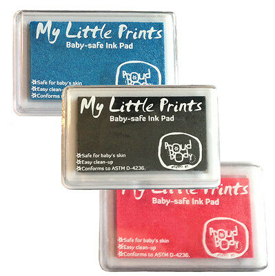 Baby Print SAFE Ink Pad CREATE 2 PACK COMBO Pink Blue Black Handprint Footprint