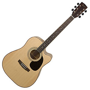 Cort Acoustic Electric Dreadnought Guitar AD880CE, Bonus Gig Bag, New, Warranty