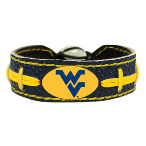 NCAA Team Color Leather Football Bracelet - Assorted Teams