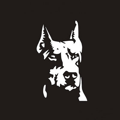 2018 2pcs Decal Guard Ward Auto Hound Doberman Lover Dog To Off Evil Pet Sticker