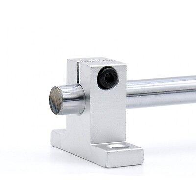 2pcs Sk10 Aluminum Linear Rod Rail Shaft Guide Support Stand 10mm Cnc3d Printer