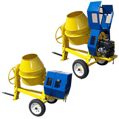 TOWABLE 9 CF CUBIC CEMENT MIXER 12V ELECTRIC STARTER 13 HP Gas Gasoline
