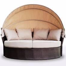 Luxo Avoca PE Wicker Outdoor Day Bed - Brown Seven Hills Blacktown Area Preview