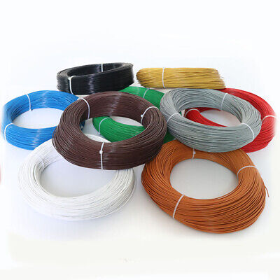 Teflon Fep Wire Single Core Stranded Tinned Copper Cable Od 1.36mm Ul1332 22awg