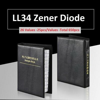 0.5w 2.4v-30v Smdsmt 1206ll34 Zener Diode Samples Book Assorted Kit Component