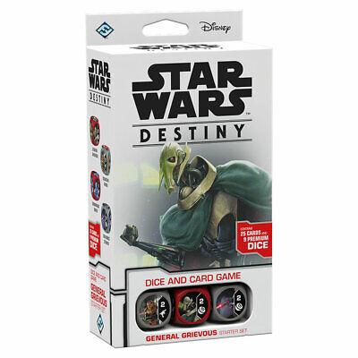 Star Wars Destiny General Grievous Starter Set Cards & Dice