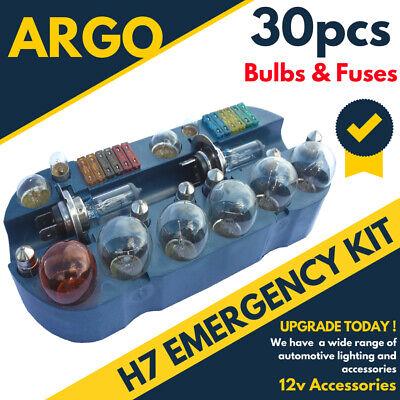 30 Piezas H7 Vehículo Set de Viaje Recambio Kit Emergencia Coche Van Caravana