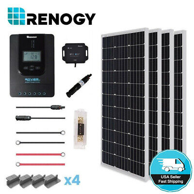 Renogy 400W Mono Solar Panel Kit 40A MPPT Rover Controller Off Grid System Home