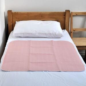 Waterproof Absorbent Incontinence Bed Pad Mattress Protector, no Tucks,pink 1101