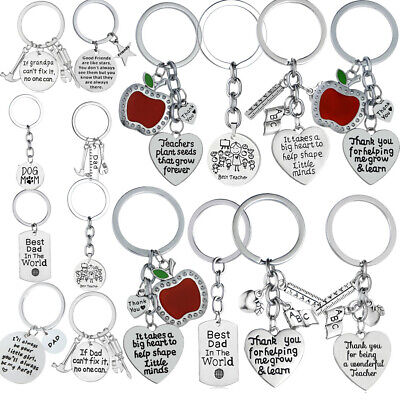 Love Heart Keychain Gifts For Dad Mom Best Friends Father Mother Teacher