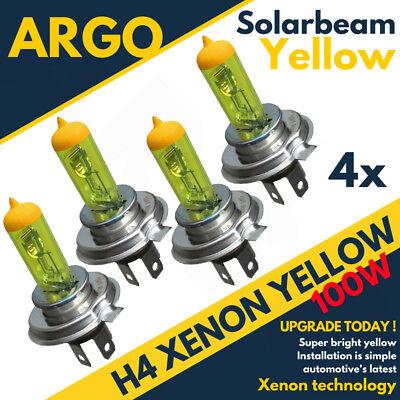 Upgrade Xenon 12v Yellow H4 Headlight Bulbs Super Bright 472 Head Lamps