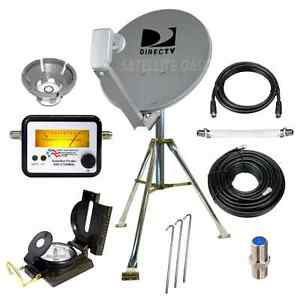 DIRECTV Portable Satellite Dish Tripod Kit for RV Tailgating Camping