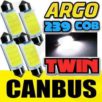 LED 239 38MM BRIGHT WHITE NUMBER PLATE INTERIOR LIGHT FESTOON BULB TWIN PACK
