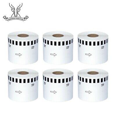 6 Rolls Brother Dk-2205 Compatible Labels Endicia Ql-700 Ql-500 Continuous Roll