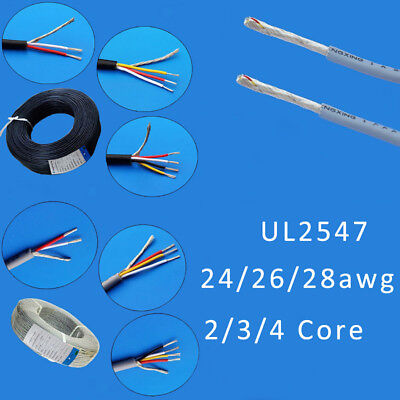 234 Core Ul2547 Shielded Cable Earphone Audio Signal Copper Wire 242628 Awg