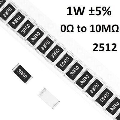2512 Smdsmt Resistors 1w Chip Resistance 5- Range Of 0 To 10m