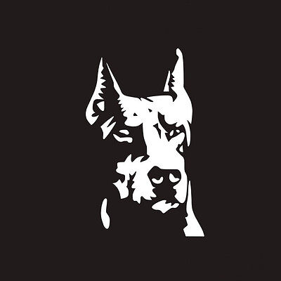 Car SUV Doberman Guard Dog Reflective Graphics Sticker For Body/Window/Fenders