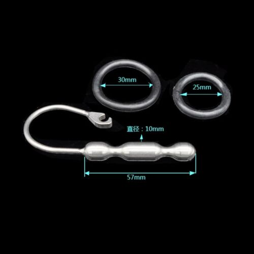 Male Urethral Stretching Sound Stainless Steel Beads New Dilator