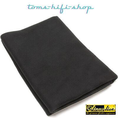 SinusLive Bespannstoff schwarz PKW KFZ AUTO Boxen Bezugsmaterial Akustikstoff