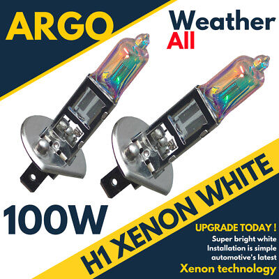 H1 100w Xenon HID Super White Effect Look Headlight Lamps Light 448 Bulbs 12v
