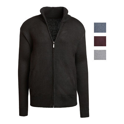Alta Men's Casual Long Sleeve Full-Zip Mock Neck Sweater Jacket