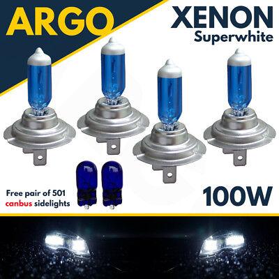 Dc Super Park Boot (4 X H7 100w Super White Xenon Upgrade Headlight Bulbs Set 499 12v)