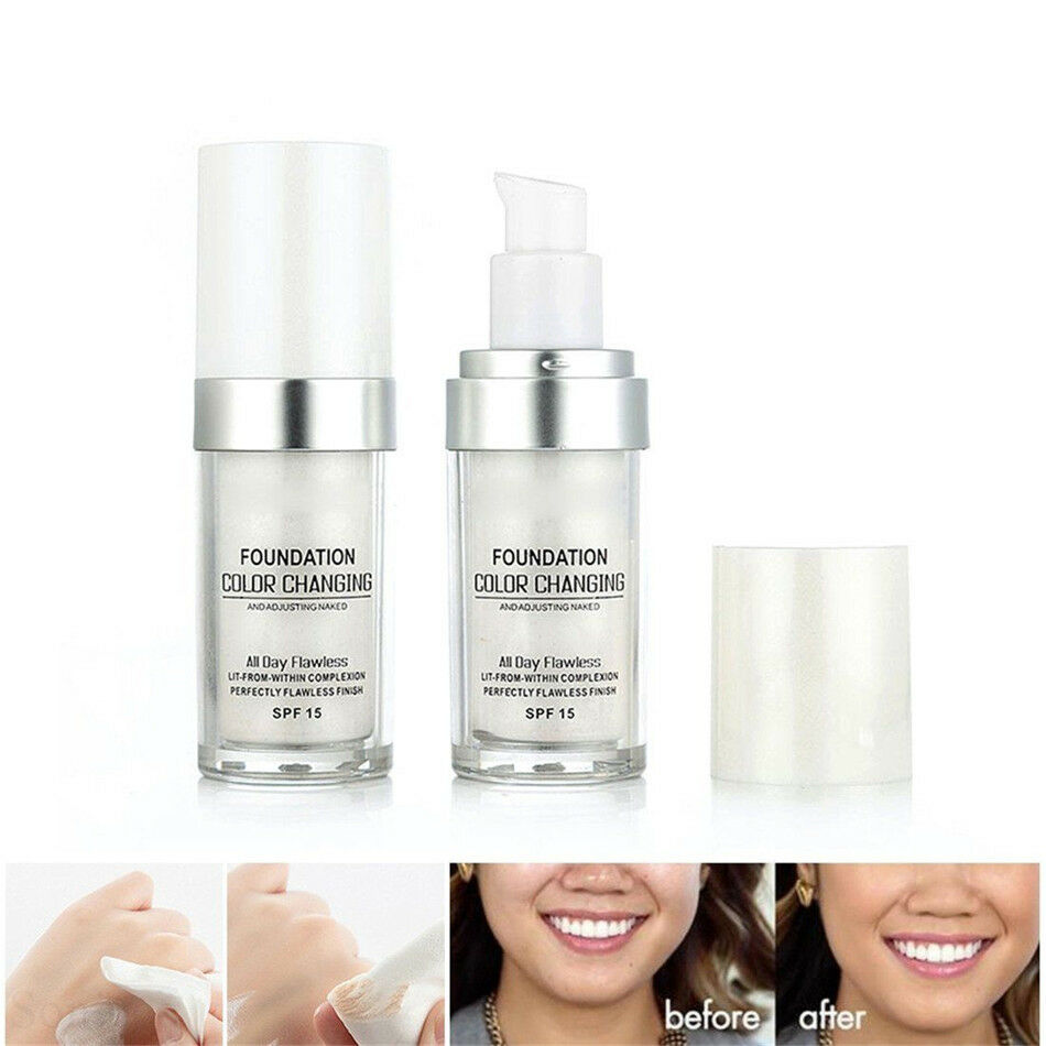 Details about TLM Flawless Color Changing Foundation Makeup Base Face Liquid Cover Concealer