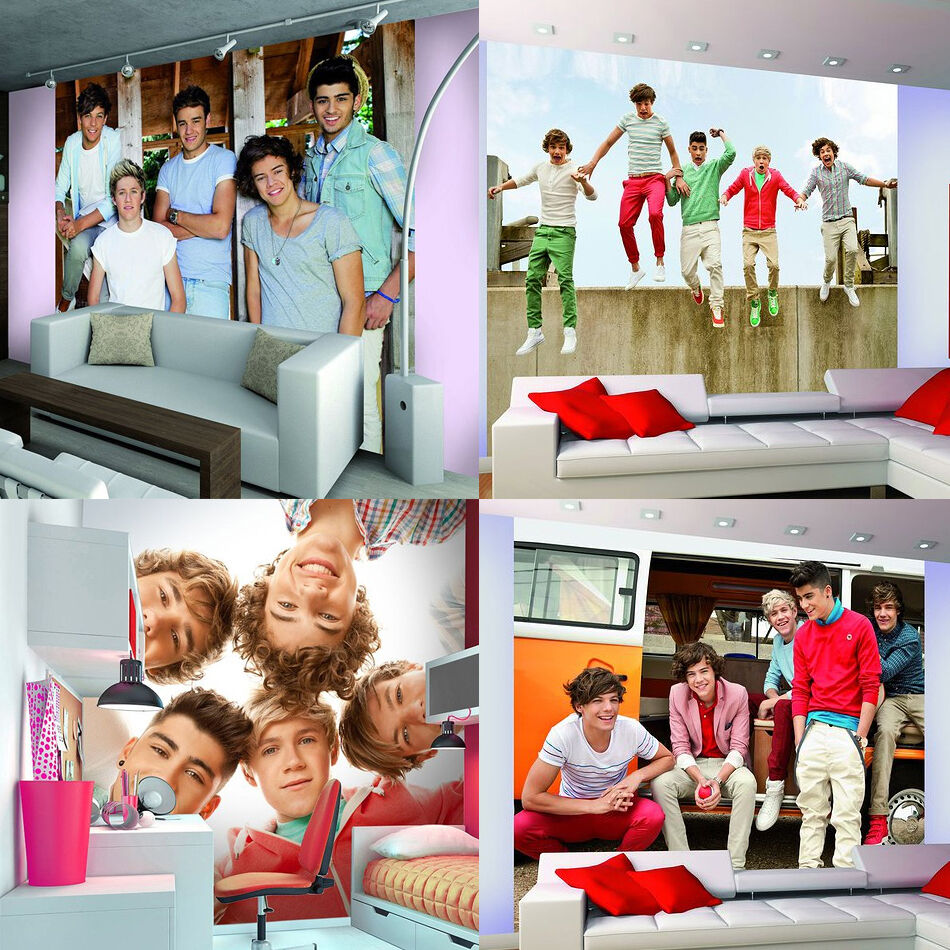ONE DIRECTION 1D CIRCLE WALLPAPER MURAL PHOTO WALL PAPER POSTER BED ROOM MURALS