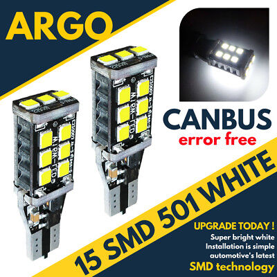Toyota Hilux MK2 8SMD LED Error Free Canbus Side Light Beam Bulbs Pair Upgrade