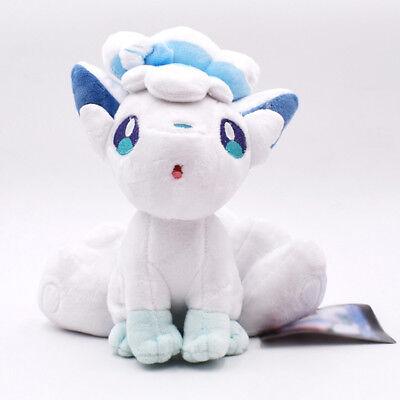 """Alola Vulpix 8"""" Doll Sun Moon Pokemon Alolan Animal Stuffed Plush Gift Toy"""