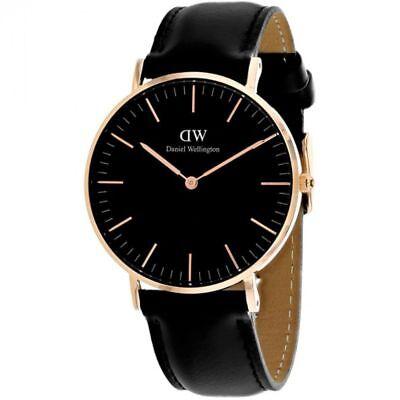 BRAND NEW Daniel Wellington DW00100127 Classic Sheffield Black Men's Watch