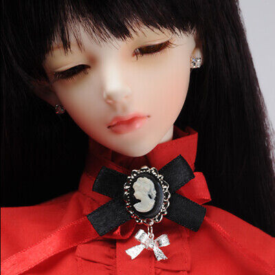 Cameo SP Ribbon Brooch Dollmore  BJD All Size White