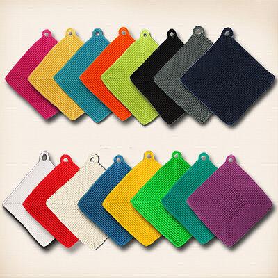 Topflappen gehäkelt 100% Baumwolle Farbe frei wählbar Ofenhandschuh NEU  - Topflappen
