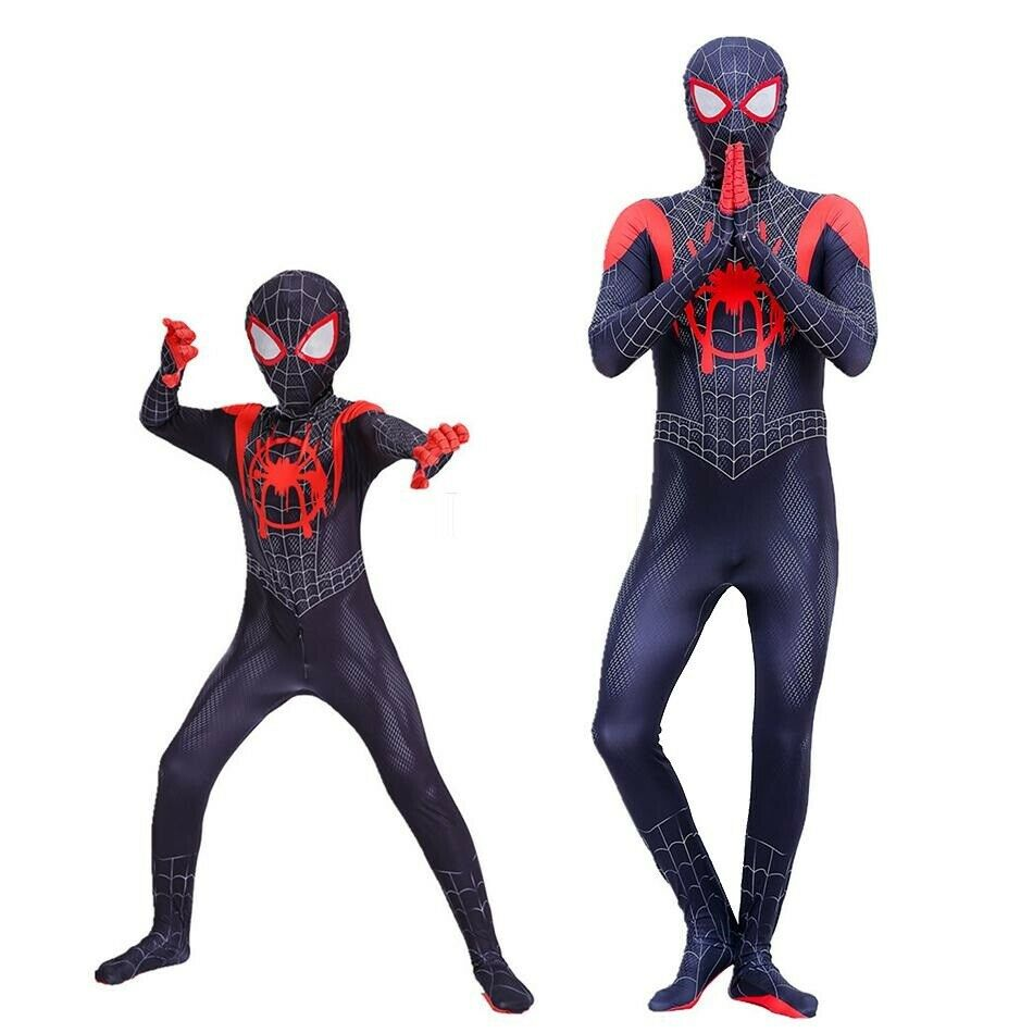 2018 Into the Spider-Verse Miles Morales Spiderman Man Jumpsuits Costume Cosplay Clothing, Shoes & Accessories