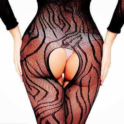 New Women's Lingerie Fishnet Body Stockings Robes Thigh High Babydoll Sleepwear