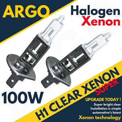 DIPPED BEAM H1 448 HALOGEN 100W SUPER BRIGHT CLEAR HEADLAMP HEADLIGHT BULBS X2