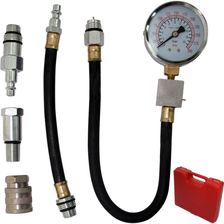 automotive petrol engine compression tester kit valve timing gauge pro cylinder ebay