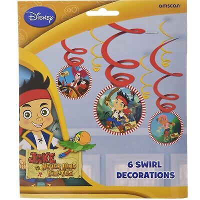 Jake and the Never Land Pirates Swirl Decorations x 6 NEW