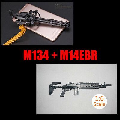 1/6 Scale M134 Minigun Six-Barrel Gatling Gun M14EBR for 12'' Action Figures for sale  China