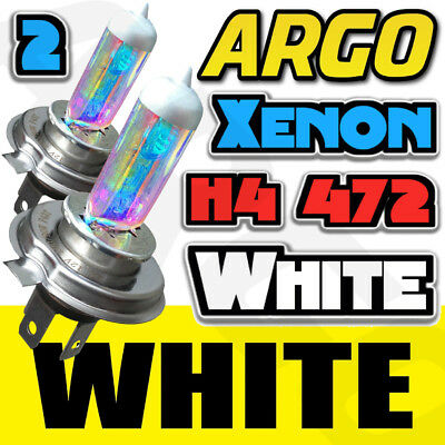 H4 472 943T 55W ALL WEATHER XENON HID RAINBOW HALOGEN BULBS 2PCS