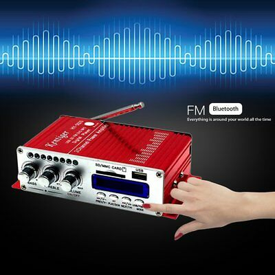 HY502S FM MP3 Audio Speaker Car Bluetooth Stereo Amplifier Player Red/Blue LOT C