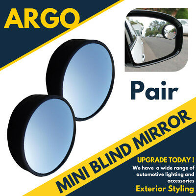 2x Blind Spot Mirror Round 2″ Parking Reversing Driving Self-adhesive Adjust