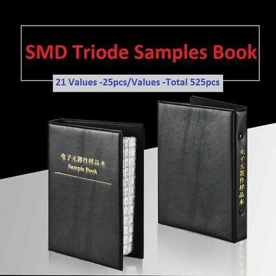 Smdsmt Transistor Triode Sot-23 Samples Book Assorted Kit Component 525pcs