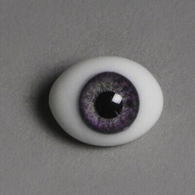 CC01 Dollmore BJD Eyes 12mm Classic Flat Back Oval Glass Eyes