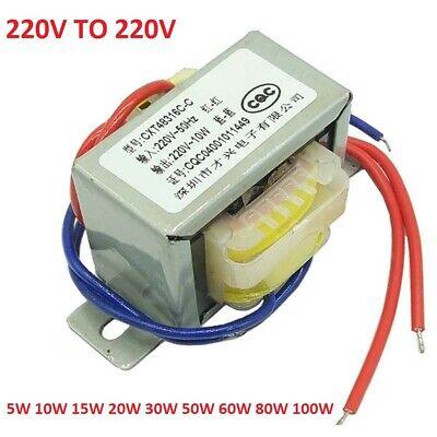 EI 5W TO 100W Isolation/Power Transformer 1:1 Safety Isolation 220V TO 220V AC ()
