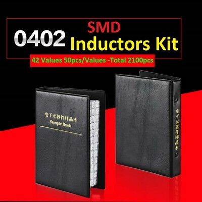 0402 Smdsmt Lqg15hs Components Samples Book Inductors Assorted Kit 42 Values